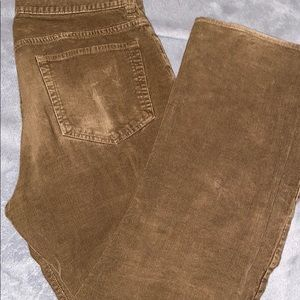 Vintage slim straight J.Crew corduroy brown pants